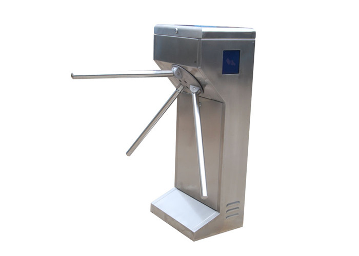 Vertical Waist Height Fingerprint Access Control Turnstiles / Turn Style Door